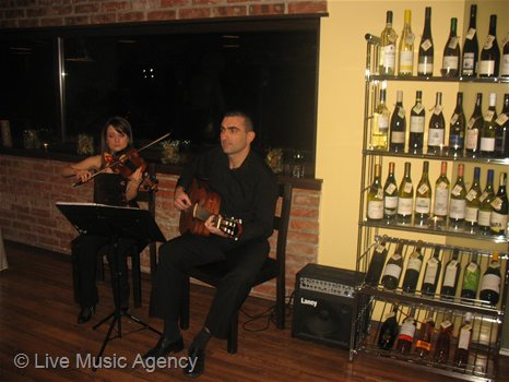 Duo violin and acoustic guitar Official Dinner | photo: livemusicagency.com