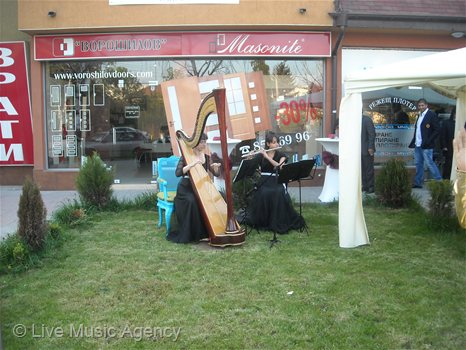 Harp and flute duo officially opened shop PARETE | photo: livemusicagency.com