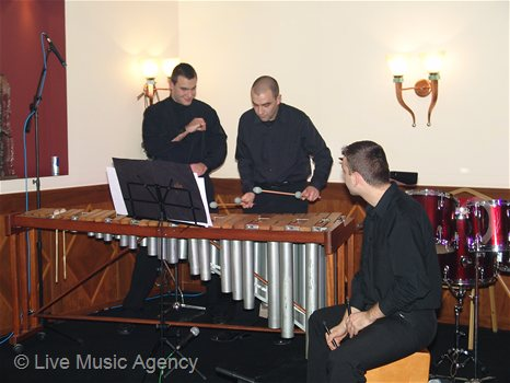 "Presentation of the construction product ""Perlobeton - solo violin, dance performance, percussion ensemble 