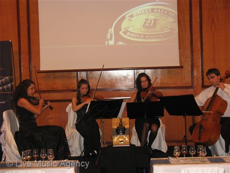 The presentation of whiskey ROYAL SALUTE, International Exhibition LUX ONLY - Piano Quintet | photo: livemusicagency.com
